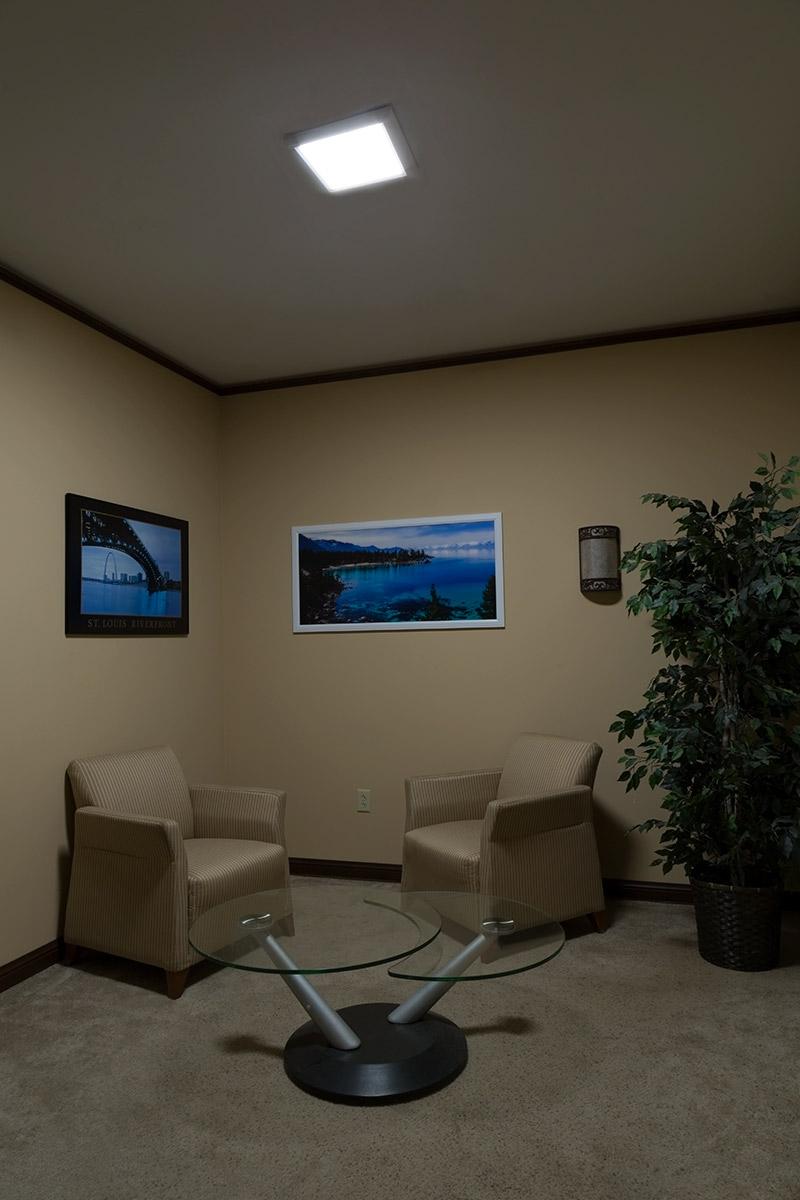 LED Panel Light   1x1   1,800 Lumens   18W Dimmable Even Glow® Light  Fixture   Flush Mount