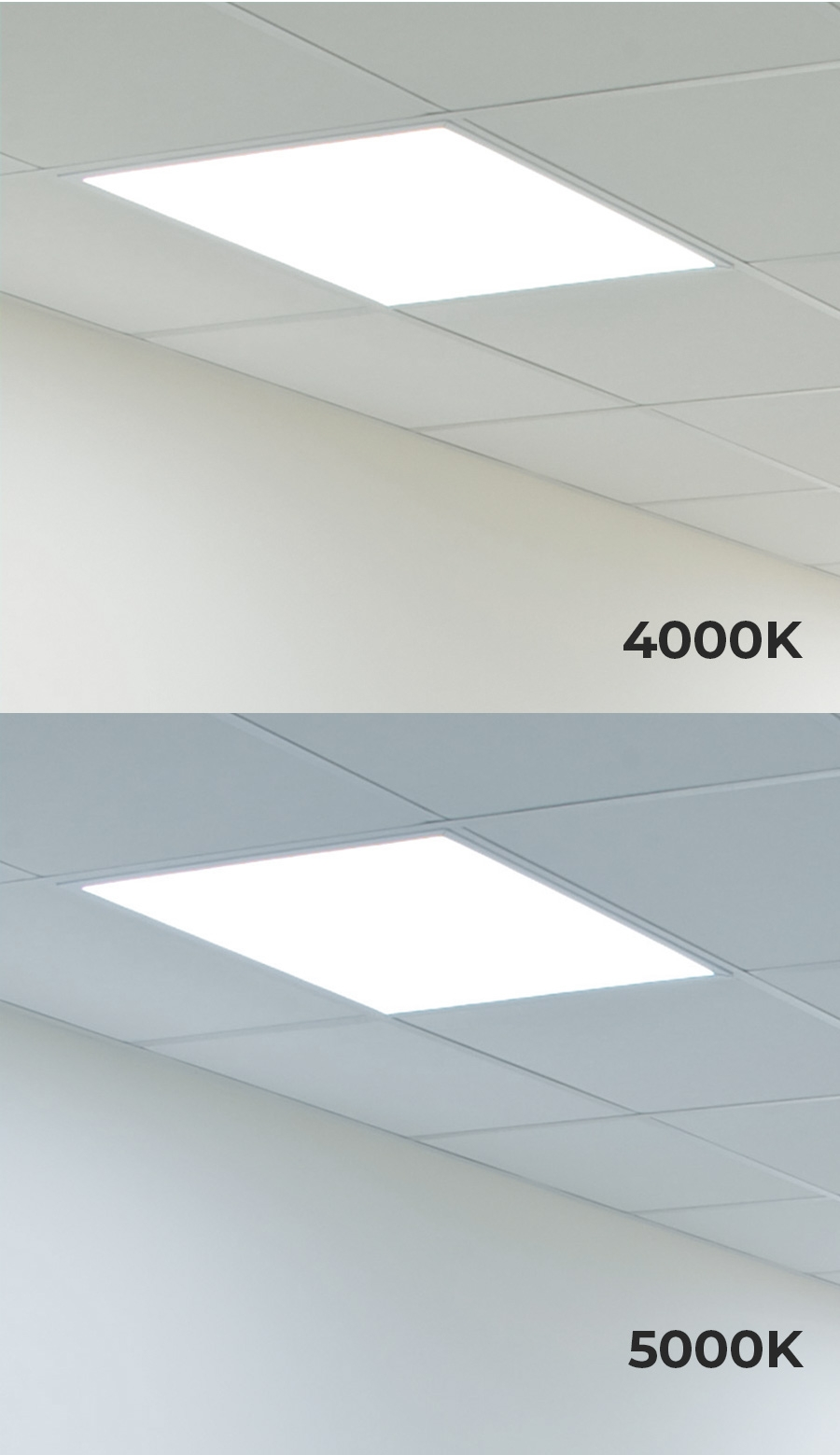 2 X2 Led Panel Light 40w Even Glow Led Panel Light Fixture Dimmable Drop Ceiling 4000 Lumens Super Bright Leds