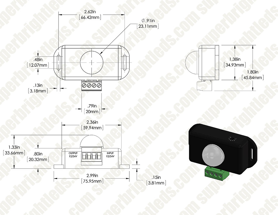 Mini PIR Motion Sensor Switch