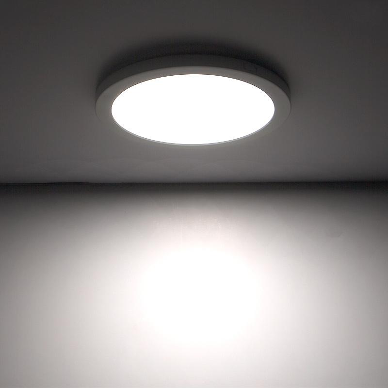 "the latest a658e 149bb 9"" LED Downlight w/ White Interchangeable Trim - 18W Flush Mount Ceiling  Light - 1,440 Lumens - 100 Watt Equivalent - 4000K/3000K - Dimmable"