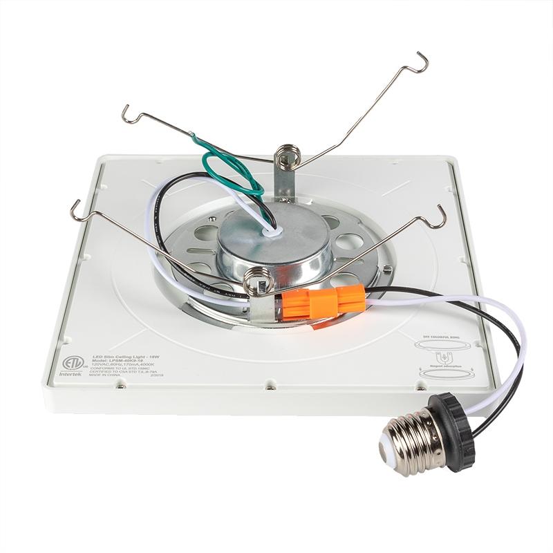 Can Light Conversion Kit >> 5 6 Led Can Light Conversion Kit 9 Square Led Ceiling Light