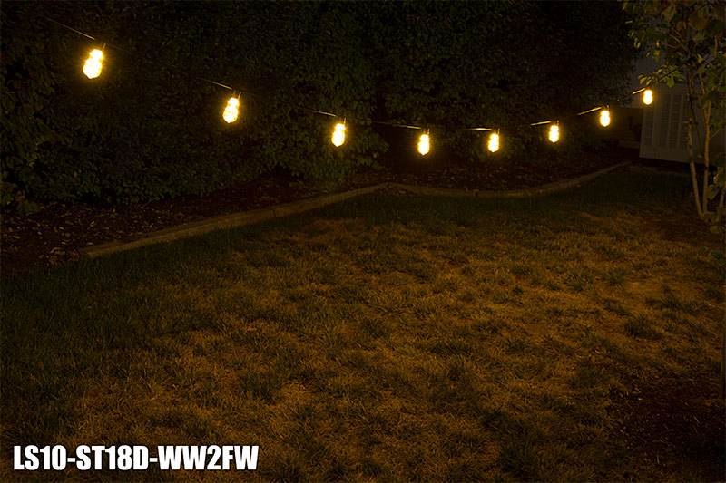 Outdoor Led Fairy Lights Commercial grade outdoor led string lights w 10 led filament led patio string lights w 10 led filament or firework bulbs in line sockets 21 workwithnaturefo