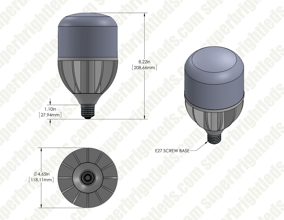 32W High Output LED Bulb - 4,600 Lumens - E26/E27 Commercial & Residential Retrofit Light - 100W Metal Halide Equivalent - 4000K