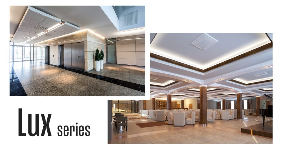 Common applications for the Lux series include cove lighting and accent lighting.