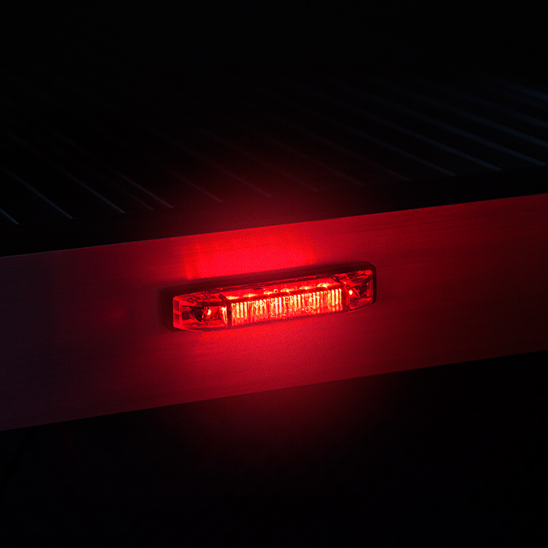 Rectangle LED Truck and Trailer Lights 378 LED Side Clearance