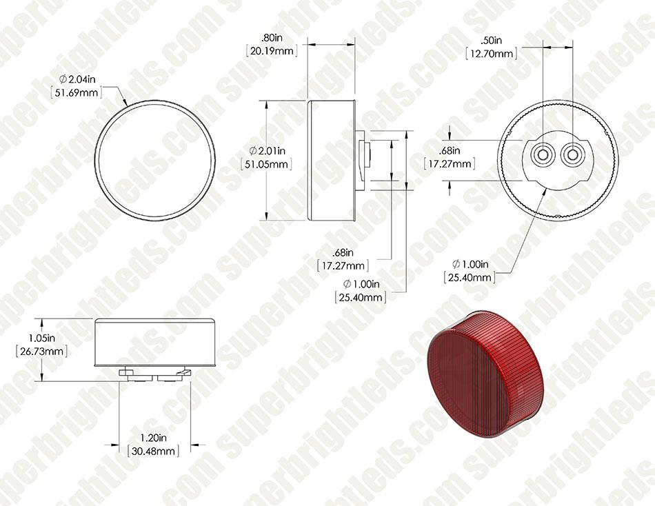 round led truck and trailer lights