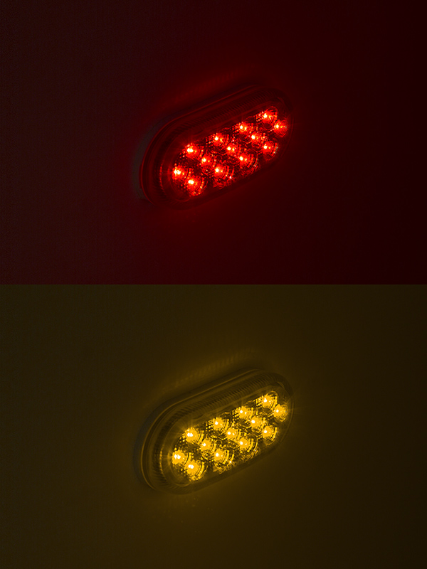 Oval Led Truck And Trailer Lights 4 Led Side Clearance