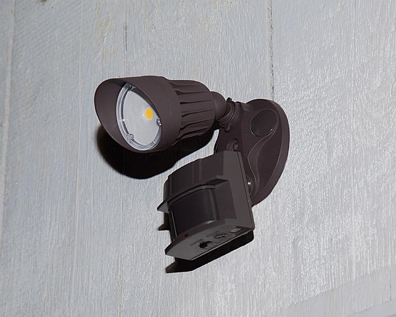Led motion sensor light single head security light 10w 60w led motion sensor light single head security light 10w 730 lumens installed on shed aloadofball Images