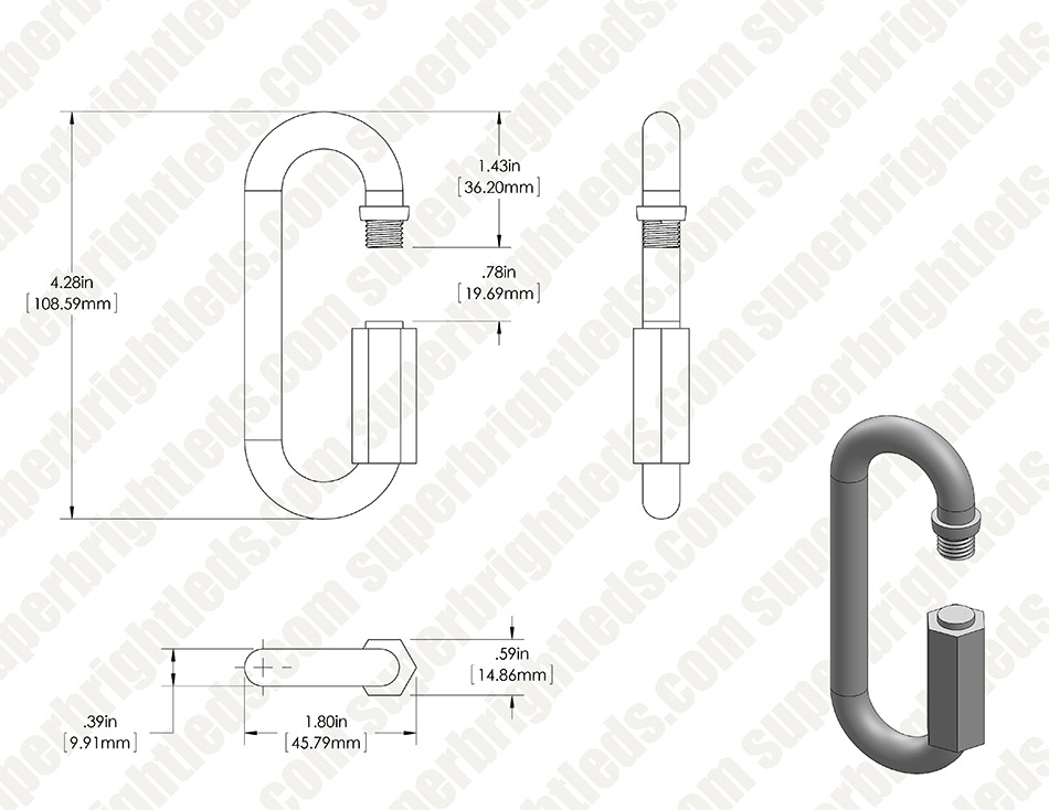 Screw Lock Carabiner