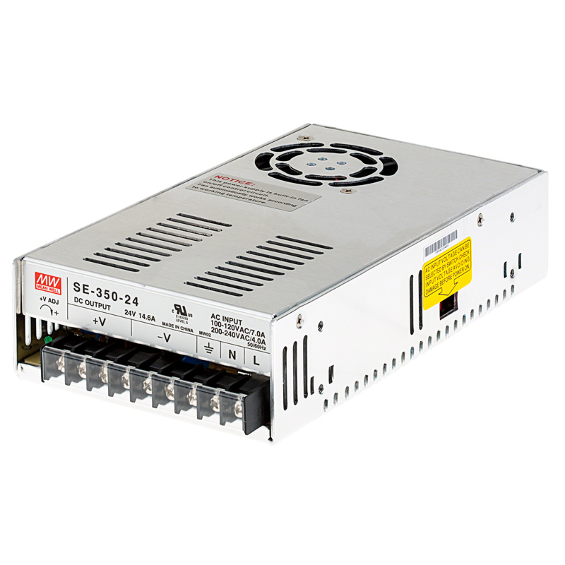Mean well led switching power supply se series 100 1000w for Power supply for 24v dc motor