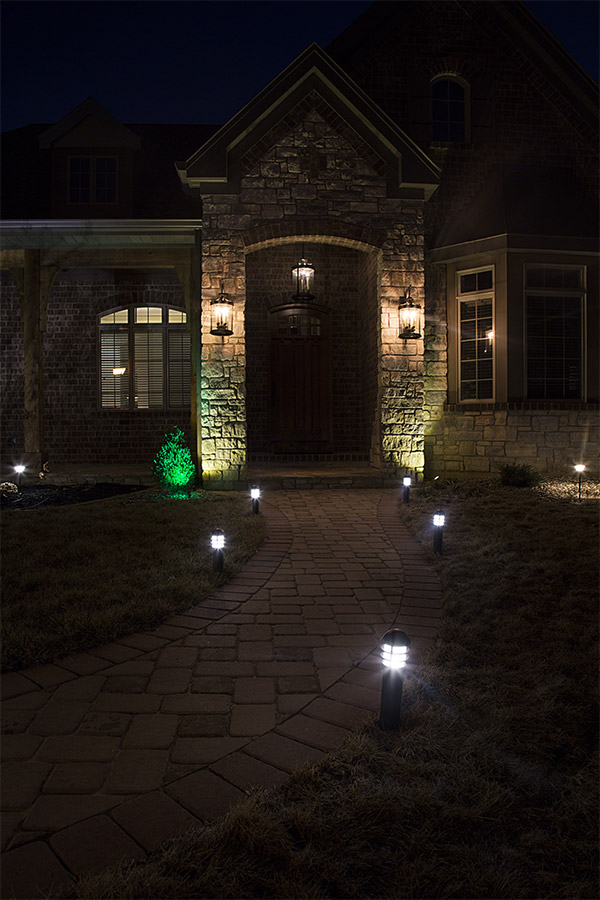 Wattage For Landscape Lighting : Led landscape path lights mini bollard watt aluminum housing lighting