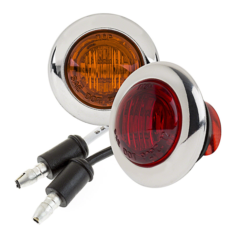 mini round led truck trailer light 1 pc rated led. Black Bedroom Furniture Sets. Home Design Ideas
