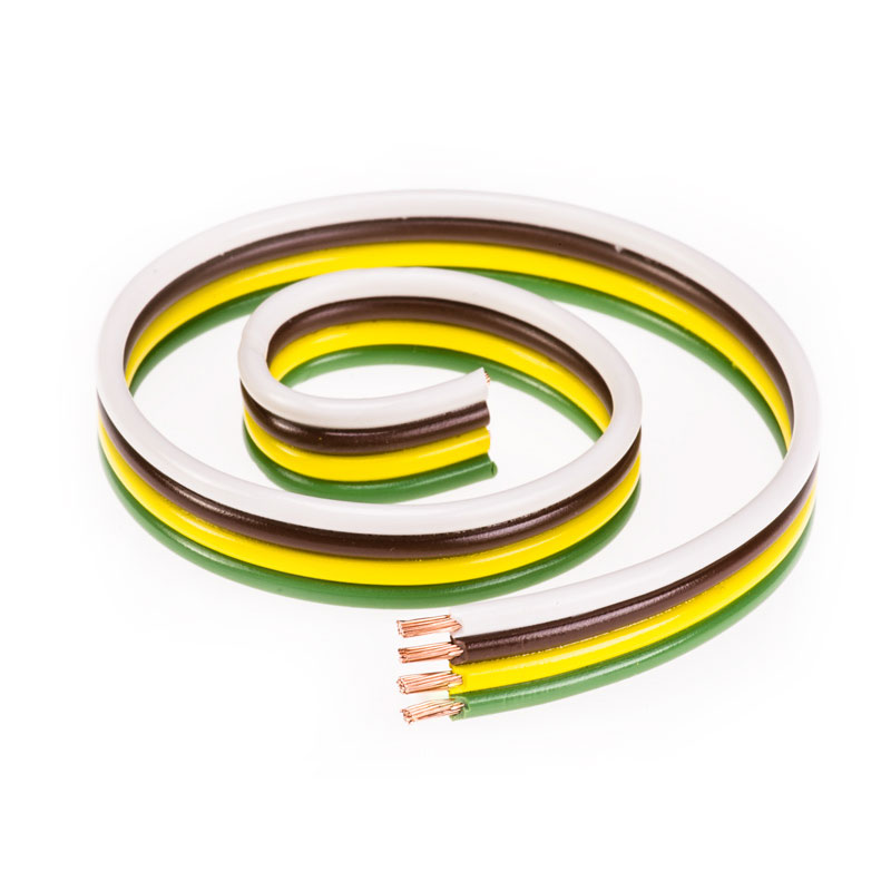 4-Wire Trailer Wire - 16 Gauge Parallel Bonded Wire - Four Conductor ...