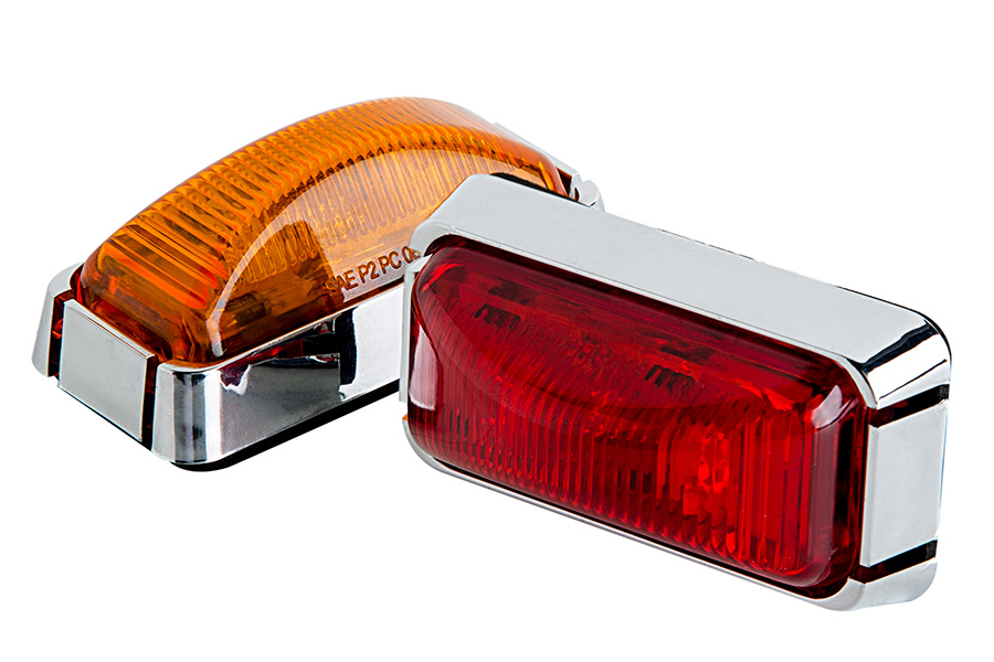 Rectangular Led Truck And Trailer Lights 3 Pc Rated Led