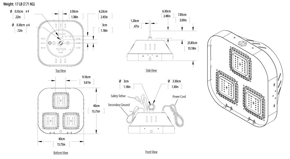 modular led high bay light 150w 12 500 lumens super. Black Bedroom Furniture Sets. Home Design Ideas