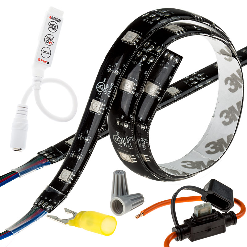 led strip kit motorcycle led kits motorcycle led lights super. Black Bedroom Furniture Sets. Home Design Ideas