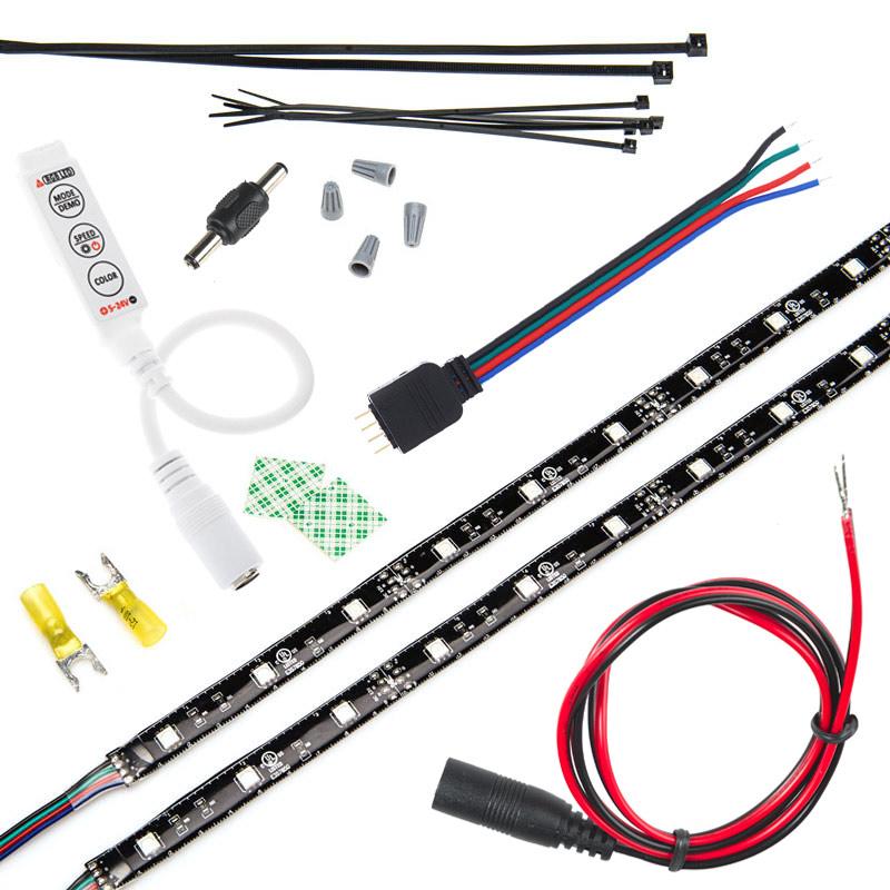 motorcycle led lighting kit weatherproof rgb color. Black Bedroom Furniture Sets. Home Design Ideas