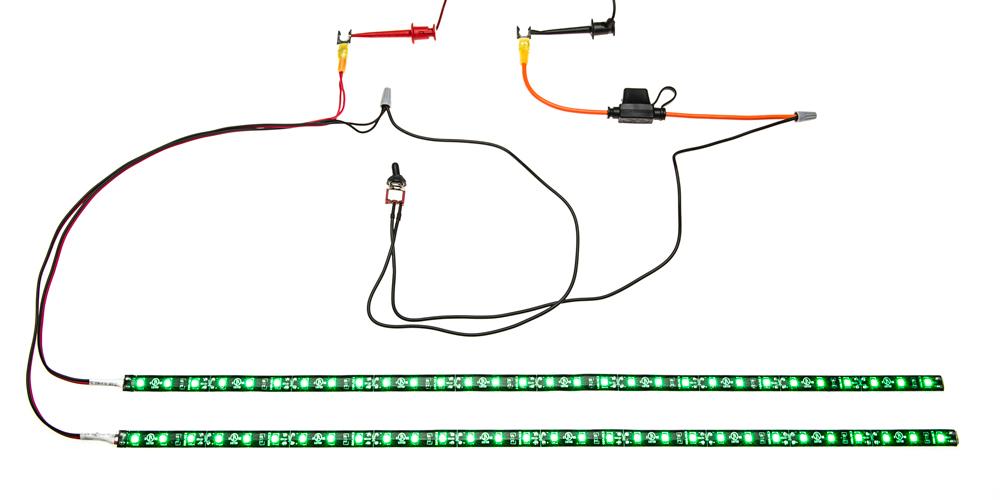 Motorcycle engine led lighting kit single color v