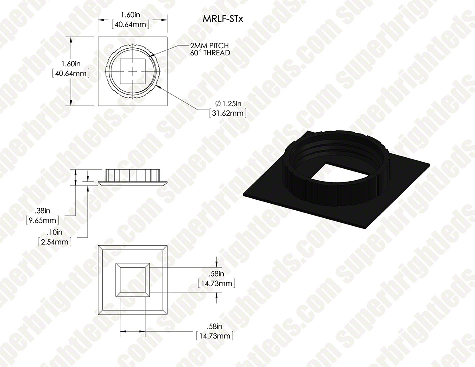Face Plate for LED Step Light - Round or Square