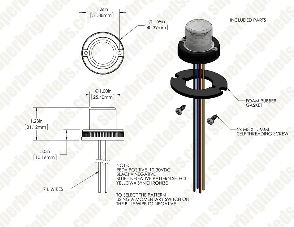 led hideaway strobe lights - mini emergency vehicle led warning lights w/  built-in controller - surface mount