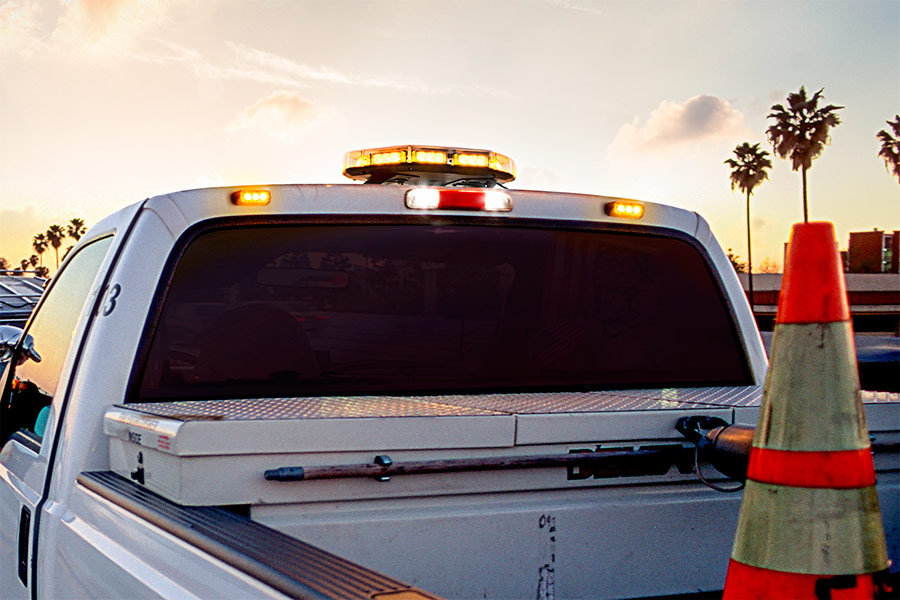 Led Strobe Lights For Trucks >> Vehicle Led Mini Strobe Light Head Built In Controller 9 Watt Surface Mount