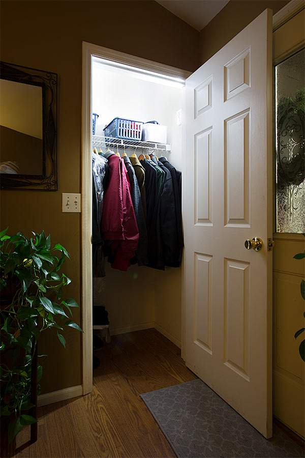 Delightful NEBO FlipIt LED Light Switch   2 Pack   215 Lumens: Velcro Attached To Wall  In Entry Coat Closet