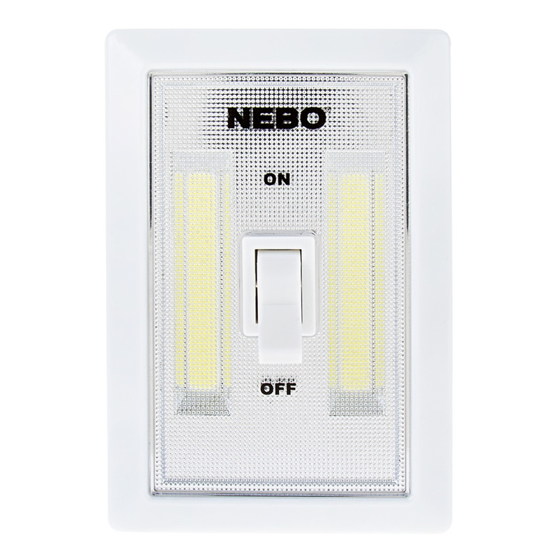 NEBO FlipIt LED Light Switch - 2-Pack - 215 Lumens | Super Bright LEDs