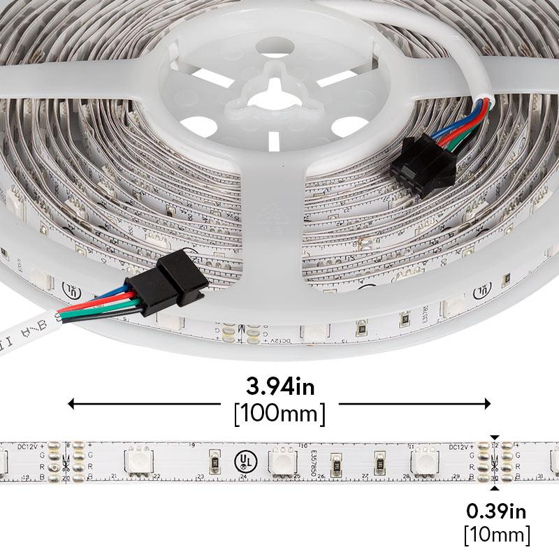 rgb led strip lights 12v led tape light w lc4 connector. Black Bedroom Furniture Sets. Home Design Ideas