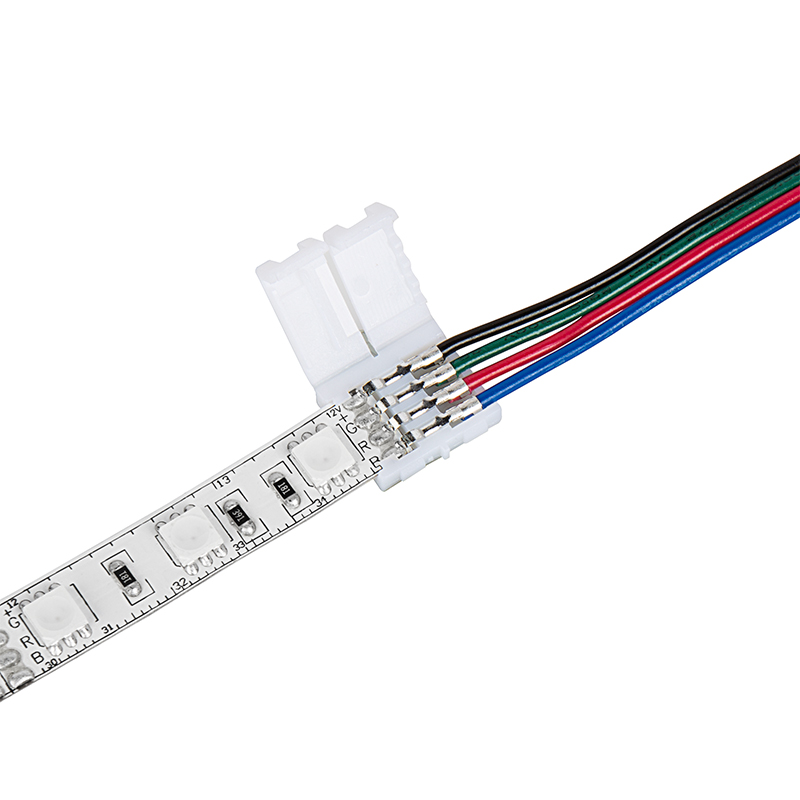 Male lc4 locking connector cable for led strip lights 10mm rgb male lc4 locking connector cable for led strip lights 10mm rgb strips 7 aloadofball Choice Image