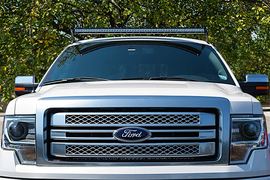 Ford f 150 04 2014 rooftop led light bar mounts straight 50 ford f 150 04 2014 rooftop led light bar mounts straight 50 single row led light bars installed on top aloadofball Choice Image