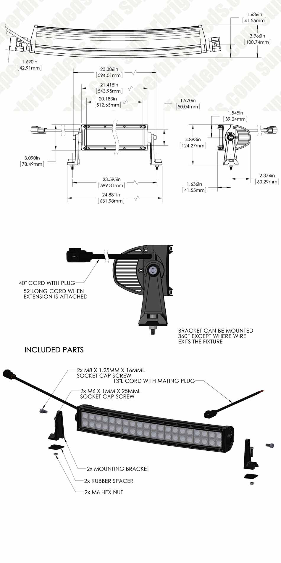 Curving Led Wiring Diagram For Use Library 20 Inch Light Bar Curved Off Road 99w 9600 Lumens