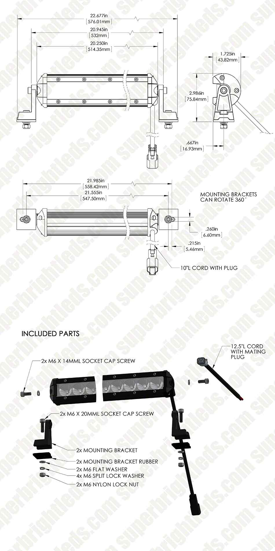 "20"" Compact Off Road LED Light Bar -41W"