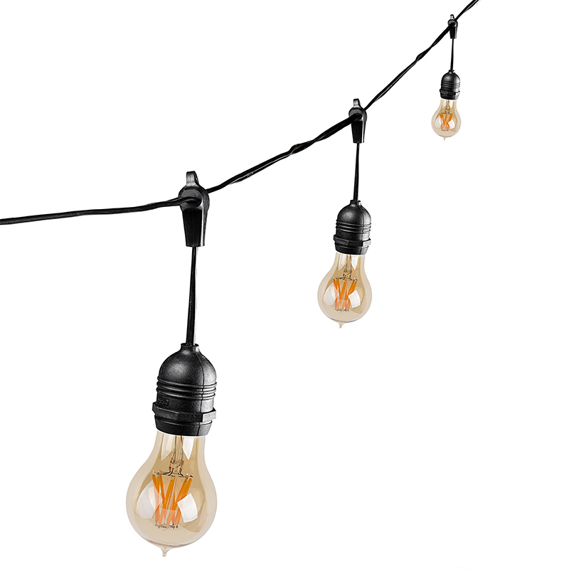 Outdoor LED Decorative String Lights - 10 Pendant Sockets - Fits E26 Bulbs Empty Bases ...