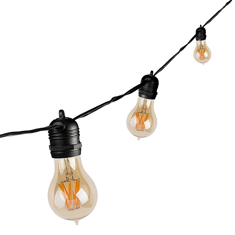 String Lights Standard Bulb : Outdoor LED Decorative String Lights - 10 In-Line Sockets - Fits E26 Bulbs Empty Bases ...