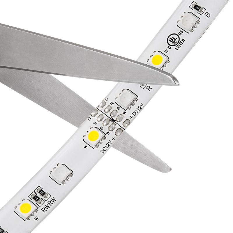 Outdoor RGBW LED Strip Lights Weatherproof 12V LED Tape