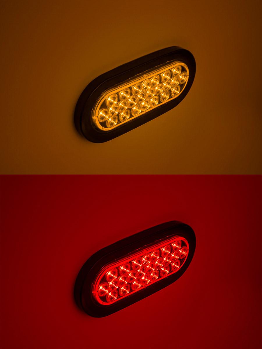 Oval LED Truck and Trailer Light  6 LED BrakeTurnTail Lights w