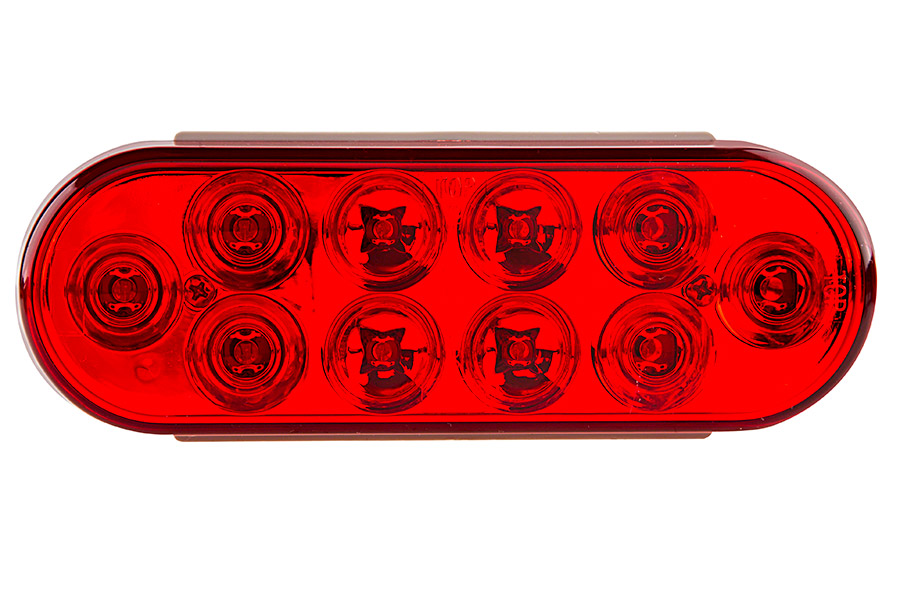 PT series Oval Stop/Tail/Turn LED Truck L& Front View  sc 1 st  Super Bright LEDs & Oval LED Truck and Trailer Lights - 6u201d Brake/Turn/Tail Lights - 3 ...