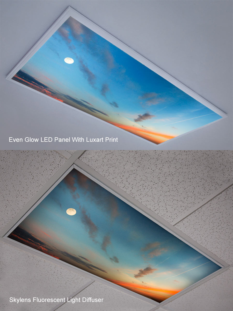 Fluorescent Light Covers >> Skylens Fluorescent Light Diffuser Balloon 2 Decorative Light Cover 2 X 2