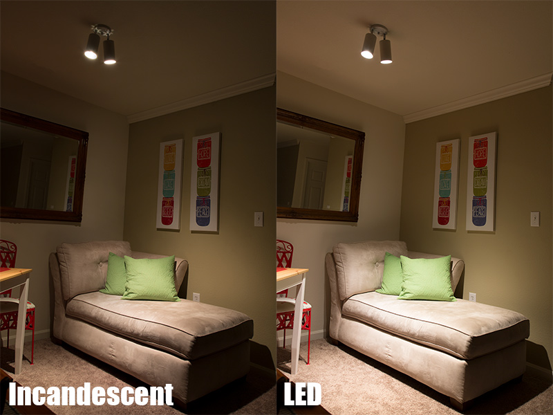 PAR20 LED Bulb   50 Watt Equivalent   Dimmable LED Spotlight Bulb   510  Lumens: Incandescent/LED Comparison Illuminating Sitting Room