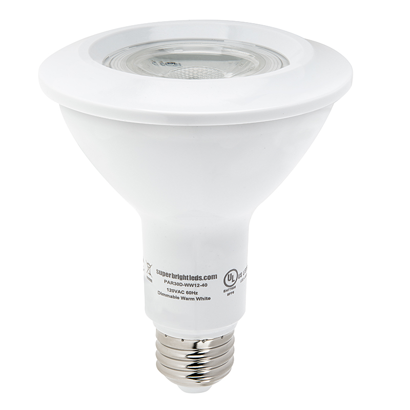 PAR30 LED Bulb - 12 Watt - Dimmable LED Spotlight Bulb - 1,100 ...