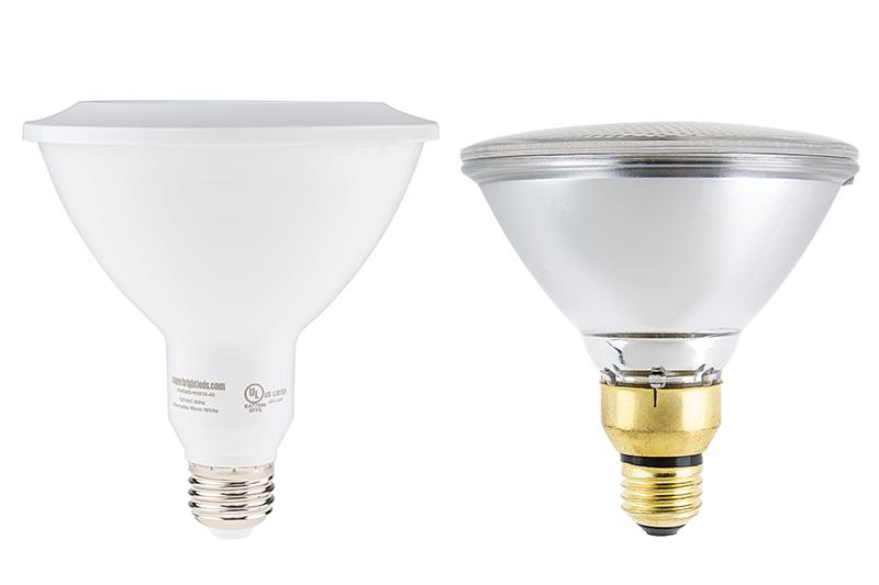 PAR38 LED Bulb - 16 Watt - Dimmable LED Spotlight Bulb Profile View  sc 1 st  Super Bright LEDs & PAR38 LED Bulb - 16 Watt - Dimmable LED Spotlight Bulb - 1500 ... azcodes.com