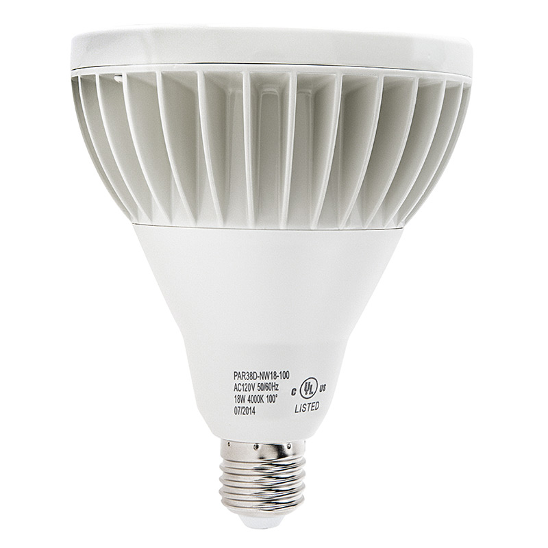 led bulb 18w dimmable led flood light bulb profile view with size. Black Bedroom Furniture Sets. Home Design Ideas