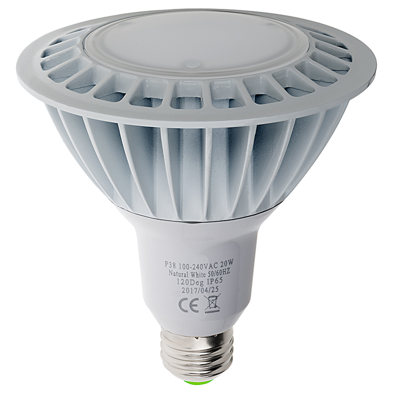 PAR38 Outdoor LED Bulb   150 Watt Equivalent Weatherproof LED Flood Light  Bulb   1,500 Lumens