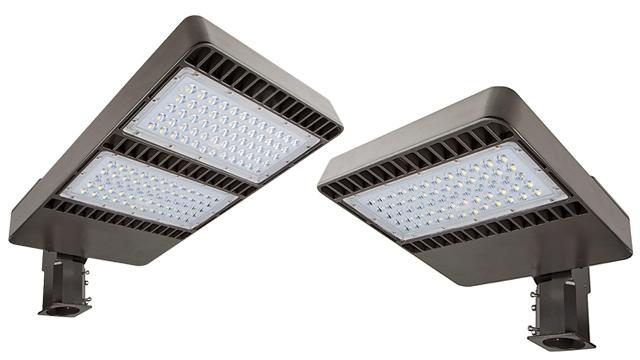 parking lot light 300w 700w hid equivalent led shoebox area light. Black Bedroom Furniture Sets. Home Design Ideas