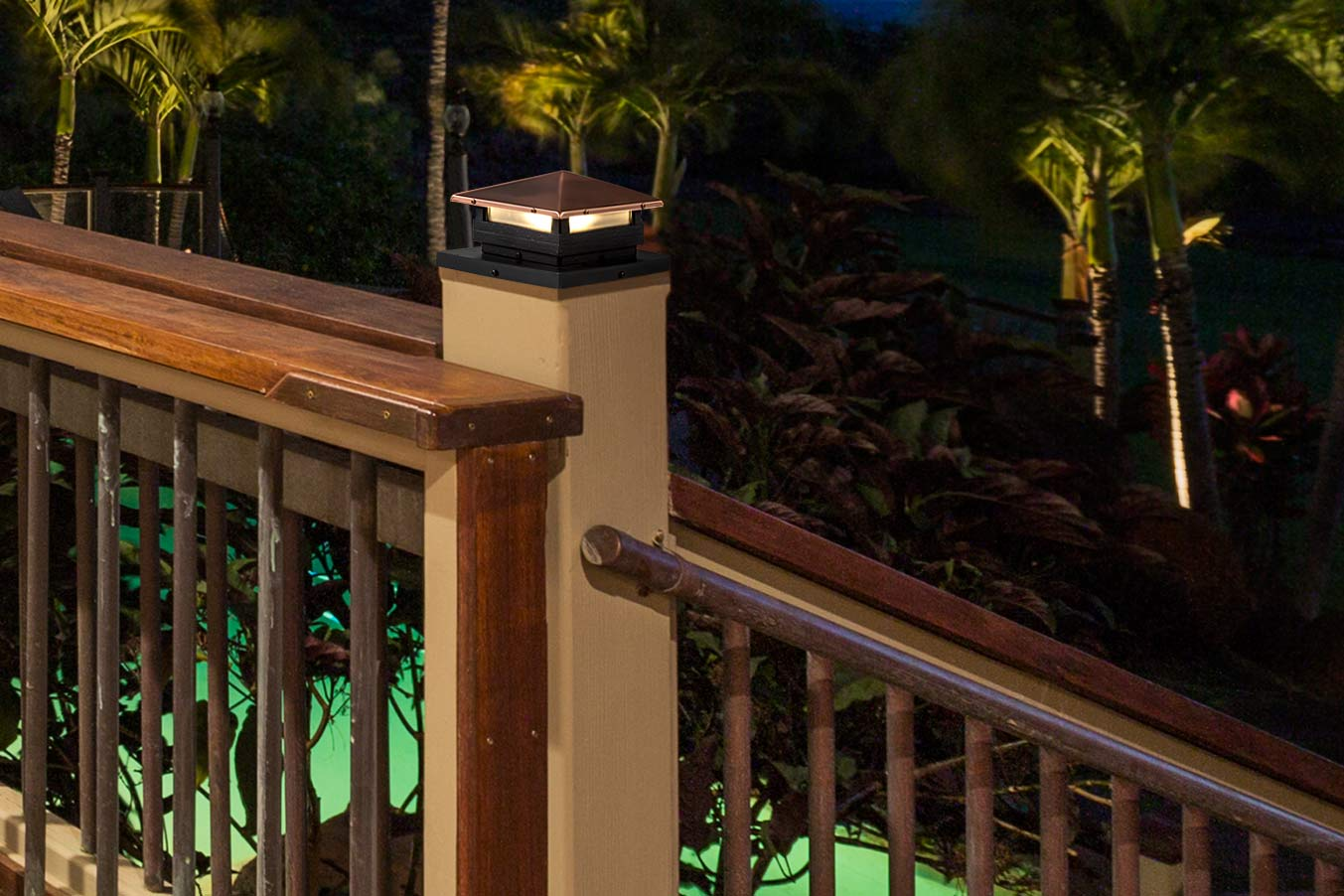 4x4 led deck and fence post cap light with 6x6 post adapter 10 4x4 led deck and fence post cap light with 6x6 post adapter 10 watt equivalent 75 lumens deck post illuminated aloadofball Gallery