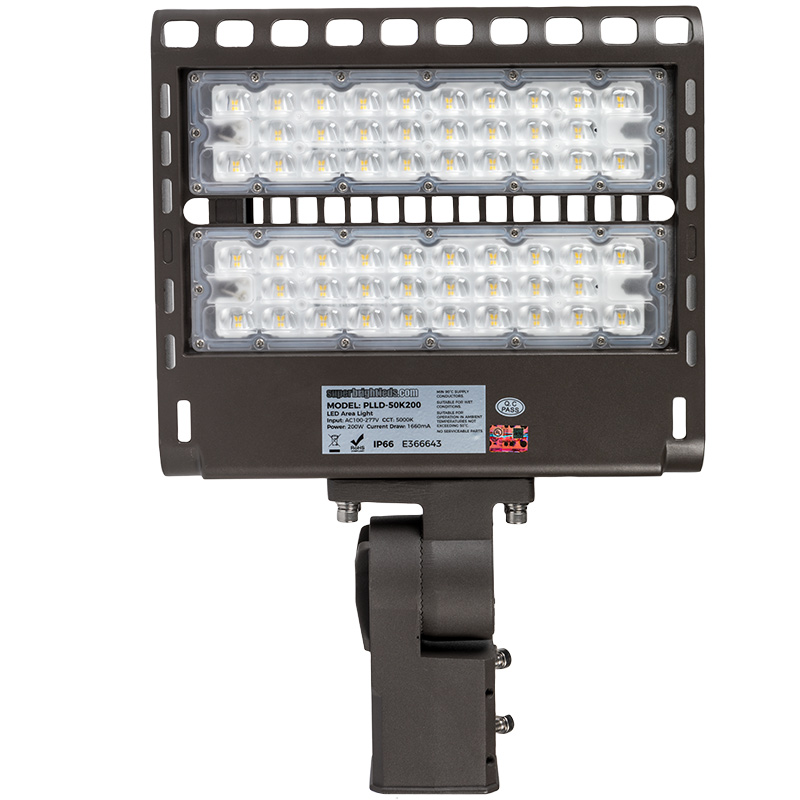 Parking Lot Lighting Cost Per Square Foot: 200W (650W HID Equivalent) LED