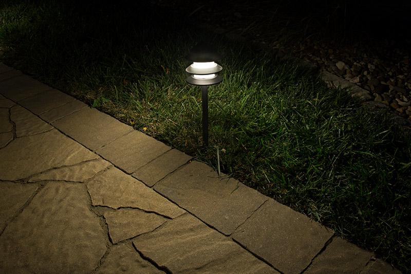 landscape led path lights w triple tier pagoda style light head 1