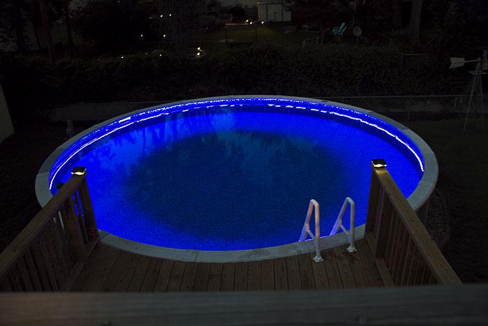 High power rgb led weatherproof flexible light strips - Swimming pool lighting requirements ...