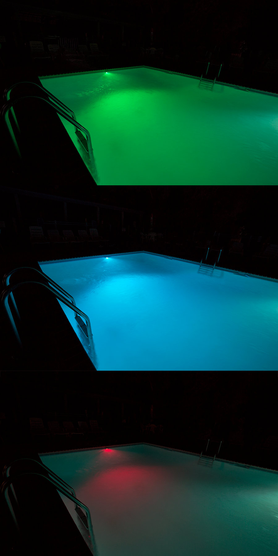 RGB LED Underwater Pool Lights and Fountain/Pond Lights - Dual Array ...