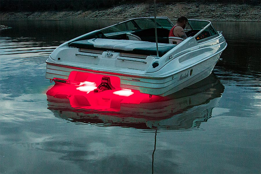 led underwater boat lights and dock lights - single lens - 60w, Reel Combo